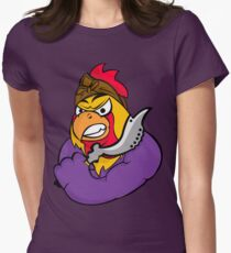 The Mighty Ethnic Rooster Womens Fitted T-Shirt