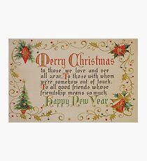 Vintage Christmas Card #6 Photographic Print