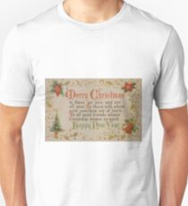 Vintage Christmas Card #6 Unisex T-Shirt