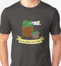 Grow Your Own Way, Succulent Ilustration Unisex T-Shirt