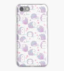 Spring Hedgehog Pattern iPhone Case/Skin