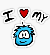 I Love My Puffle Sticker