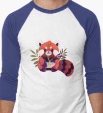 Red Panda Eating Ramen Men's Baseball ¾ T-Shirt
