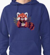 Red Panda Eating Ramen Pullover Hoodie
