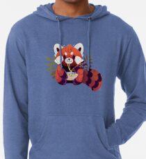 Roter Panda, der Ramen isst Leichter Hoodie