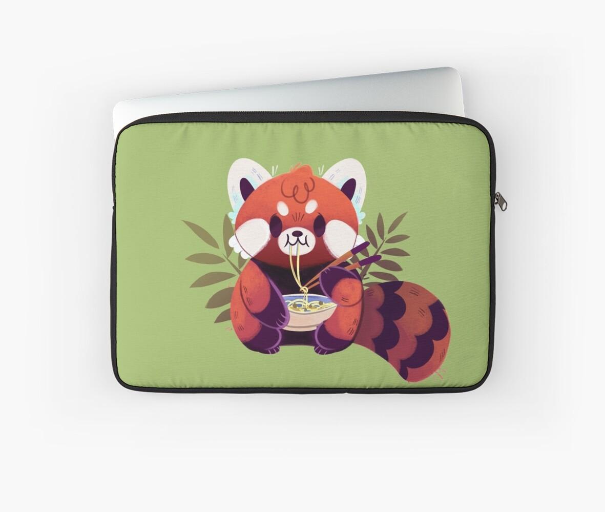 Red Panda Eating Ramen by Jessica Gibson