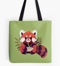 Red Panda Eating Ramen Tote Bag