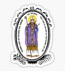 Saint Blaise Patron of Healing the Throat Sticker
