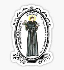 Saint Nicholas of Tolentino Patron of Sick Animals & Crossing Over Sticker