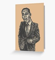 Silly Businessman Greeting Card