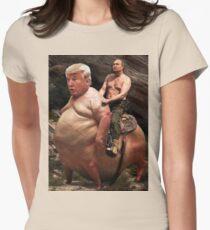 Putin riding Trump Womens Fitted T-Shirt