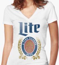 LITE (A FINE PILSNER) BEER Women's Fitted V-Neck T-Shirt
