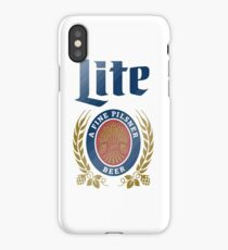 LITE (A FINE PILSNER) BEER iPhone Case/Skin