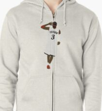 Allen Iverson Hand To Ear  Zipped Hoodie