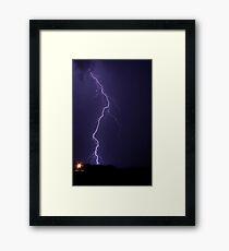 Vertical Strike Framed Print