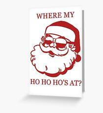 Pimp Santa Greeting Card