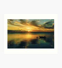 Sunset, Fraser Island Art Print