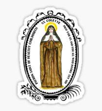 Saint Colette Patron of Healthy Childbirth Sticker