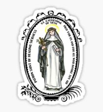 Saint Catherine of Siena Patron of Healing Sickness Sticker