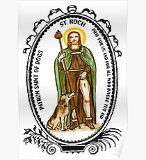 Saint Roch Patron of Dogs Poster