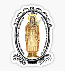 Saint Kateri Patron of Ecology & Environment Sticker