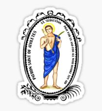 Saint Sebastian Patron of Athletes Sticker