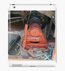 An engine powered pully iPad Case/Skin