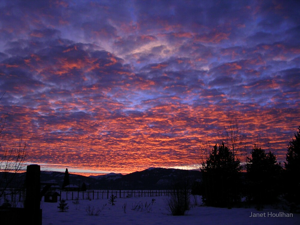 Sunset Council Mountain, Idaho by Janet Houlihan