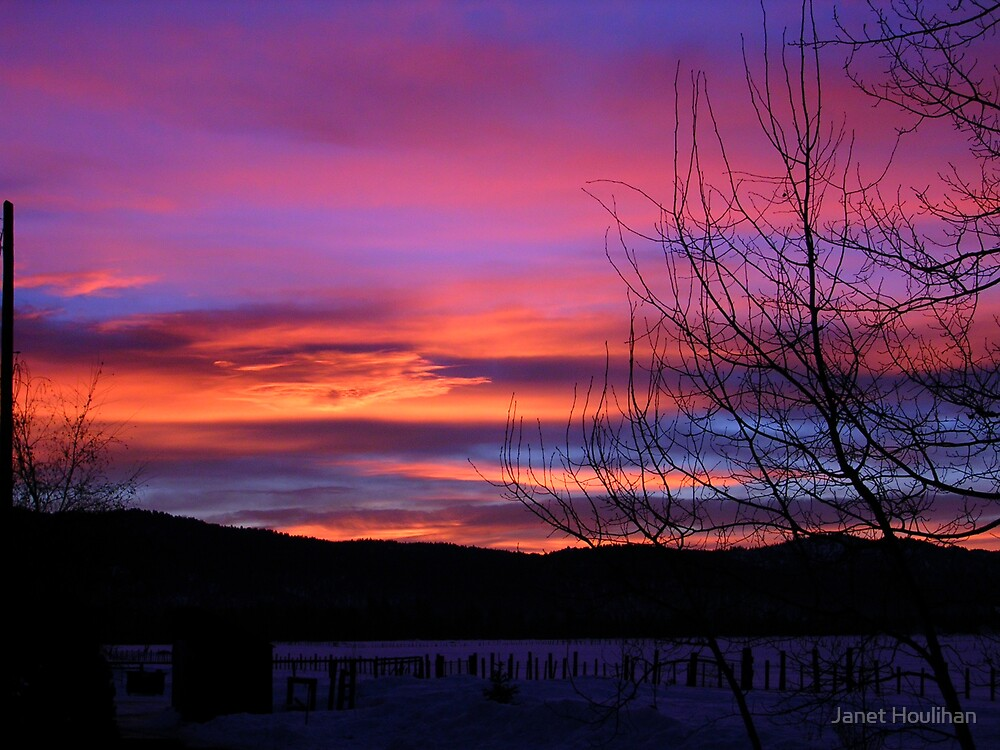 Idaho Winter Sunrise by Janet Houlihan