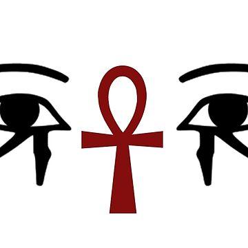 Eyes & The Ankh by sherineheg
