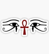 Eyes & The Ankh Sticker