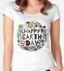 Happy Earth Day Women's Fitted Scoop T-Shirt