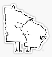 Minnesota and Wisconsin Sticker