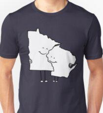 Minnesota and Wisconsin Unisex T-Shirt
