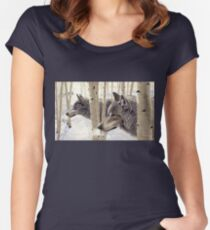 Among The Aspens Women's Fitted Scoop T-Shirt
