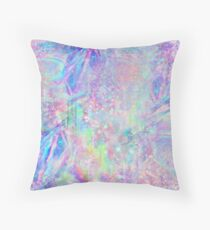Holographic Pattern Texture Throw Pillow