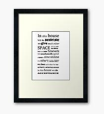 In This House by Leah Kelley Framed Print