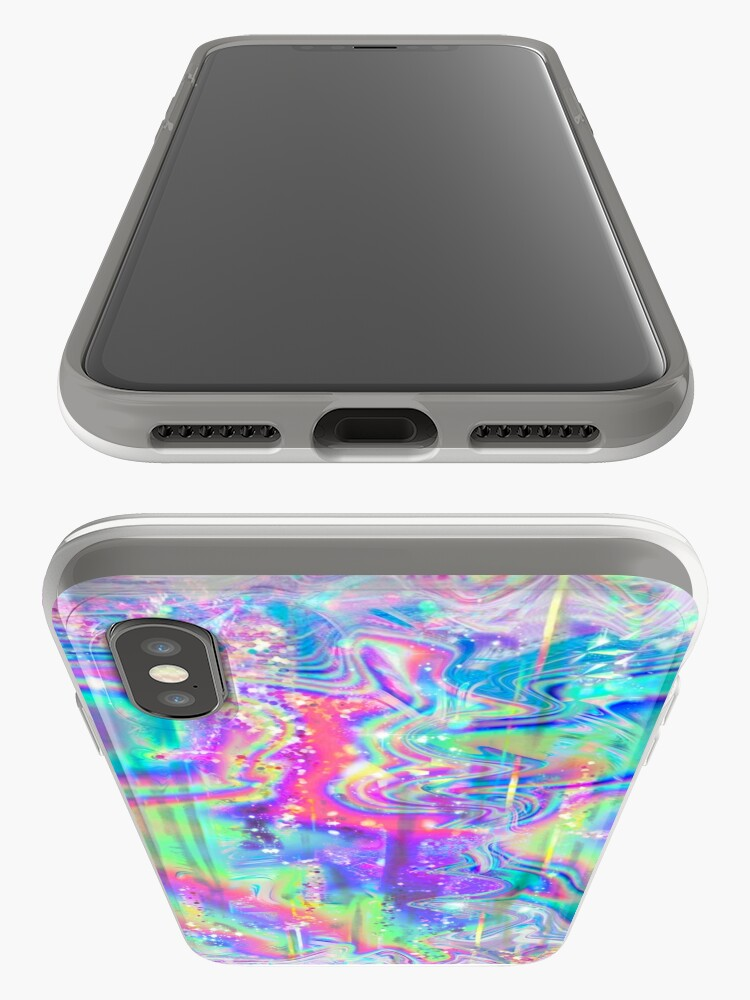 Alternate view of Psychedelic Holographic Texture iPhone Case & Cover