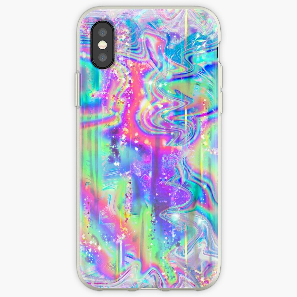 Psychedelic Holographic Texture iPhone Case & Cover
