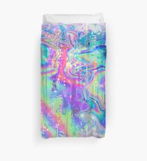 Psychedelic Holographic Texture Duvet Cover