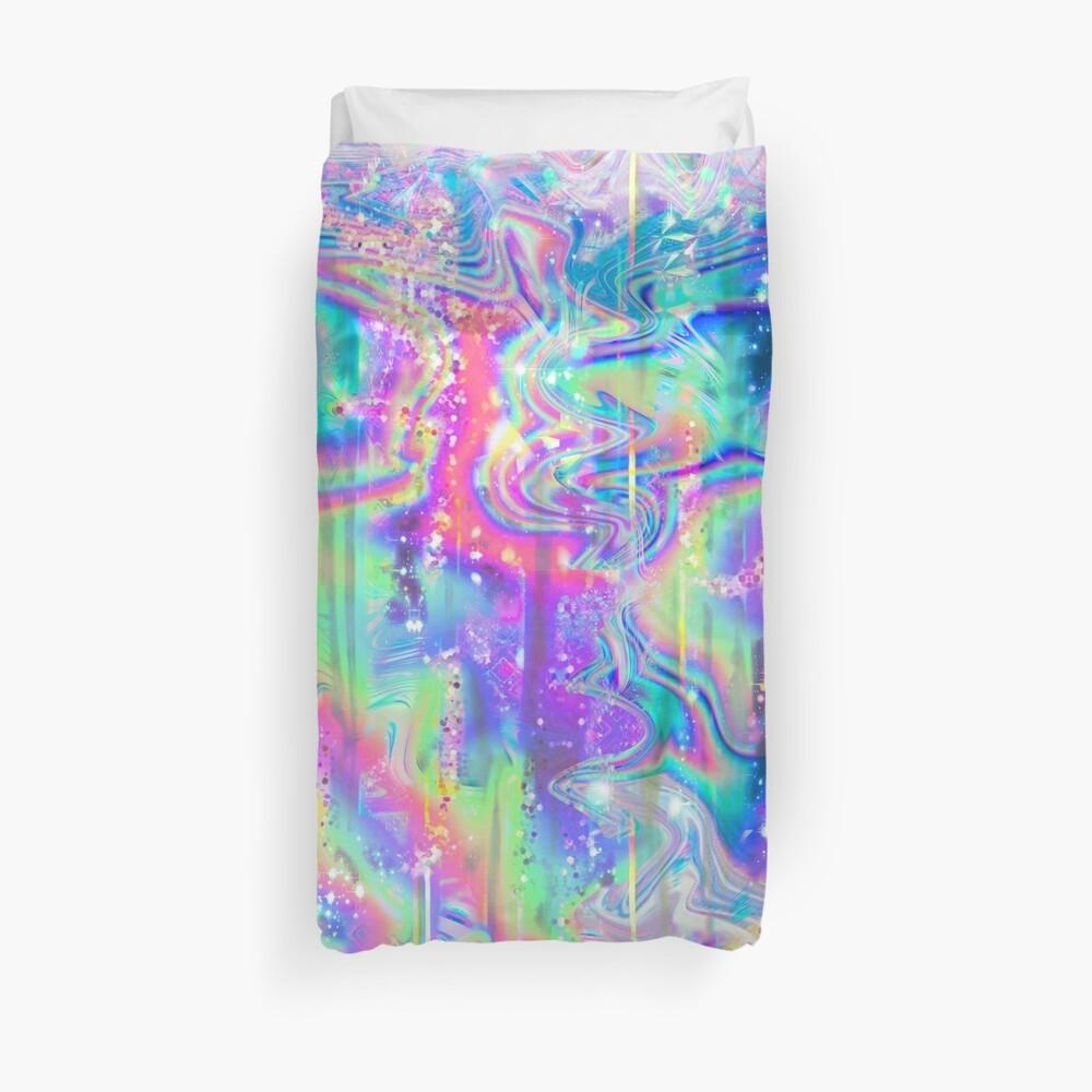 Psychedelische holographische Textur Bettbezug
