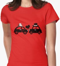 Cute Car Couple (lovers) Womens Fitted T-Shirt