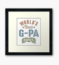 World's Best G-Pa Framed Print