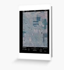 USGS TOPO Map Colorado CO Beckman Lake 20100811 TM Inverted Greeting Card