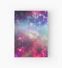 Rainbow Space Texture Hardcover Journal