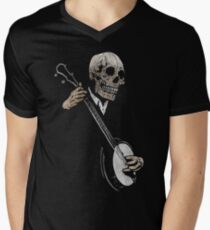 Skullboys' Banjo Blues Men's V-Neck T-Shirt