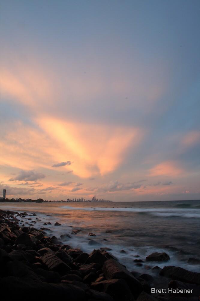 Burleigh Heads Sunset..... by Brett Habener