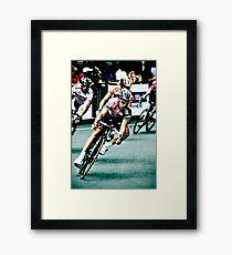 Elite Men's Criterium Race - Southbank Framed Print