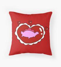 Valentine Heart Stegosaurus  Throw Pillow