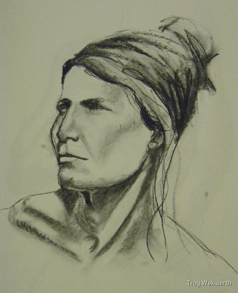 Mia portrait - 15 min sketch by Troy Wekwerth